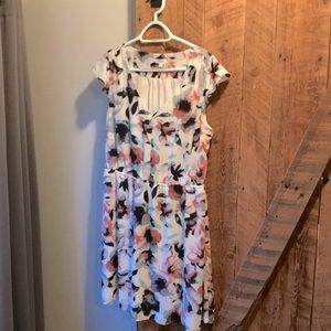 Thyme maternity and nursing floral dress